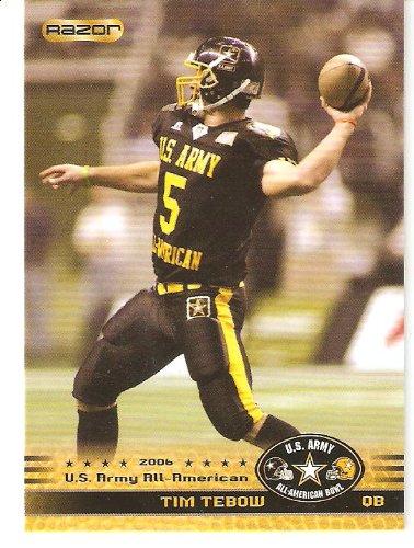 Amazon.com: Tim Tebow tarjeta de Rookie – 2010 Razor ...