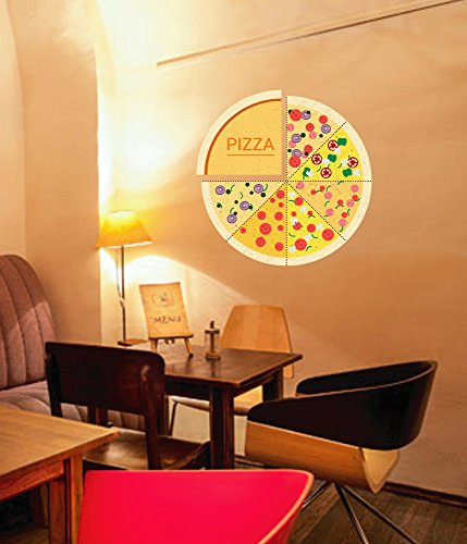 StickersForLife cik574 Full Color Wall Decal Pizza Ingredients Cheese Tomatoes Pizza Restaurant - Ingredients Cheese Pizza