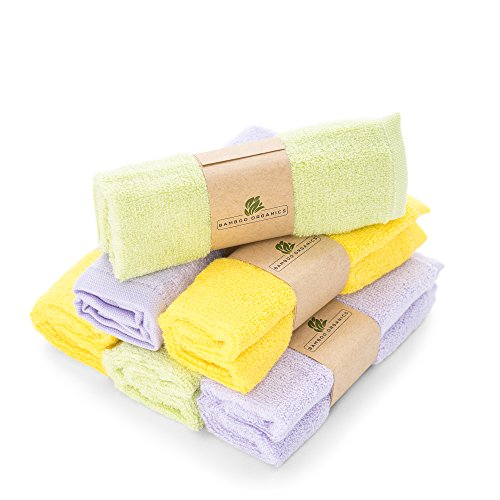 Best Bamboo Baby Washcloths Soft & Hypoallergenic Sensitive Skin Baby Wipes by...