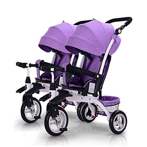 Baby Stroller YXGH@ Children's Double Tricycle Portable Two-Seater Sliding Baby Artifact Twin