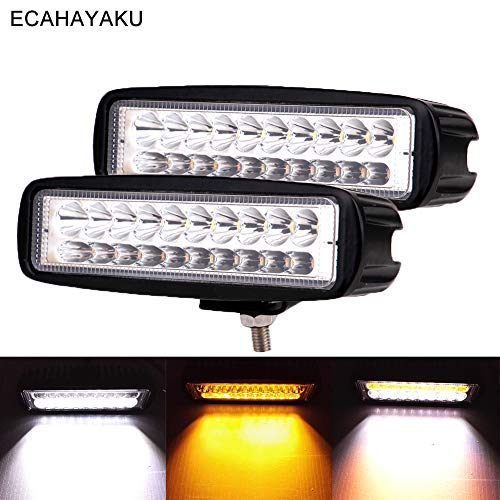 2pcs 6inch car led work light 3000k