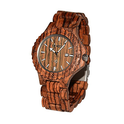 Greatwell Handcrafted Wooden Watches Zebra Wood Watch with - Wooden Watches Cheap