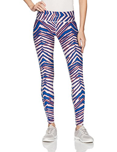 Zubaz Unisex Casual Printed Athletic Lounge Leggings, New Blue/Red, XS