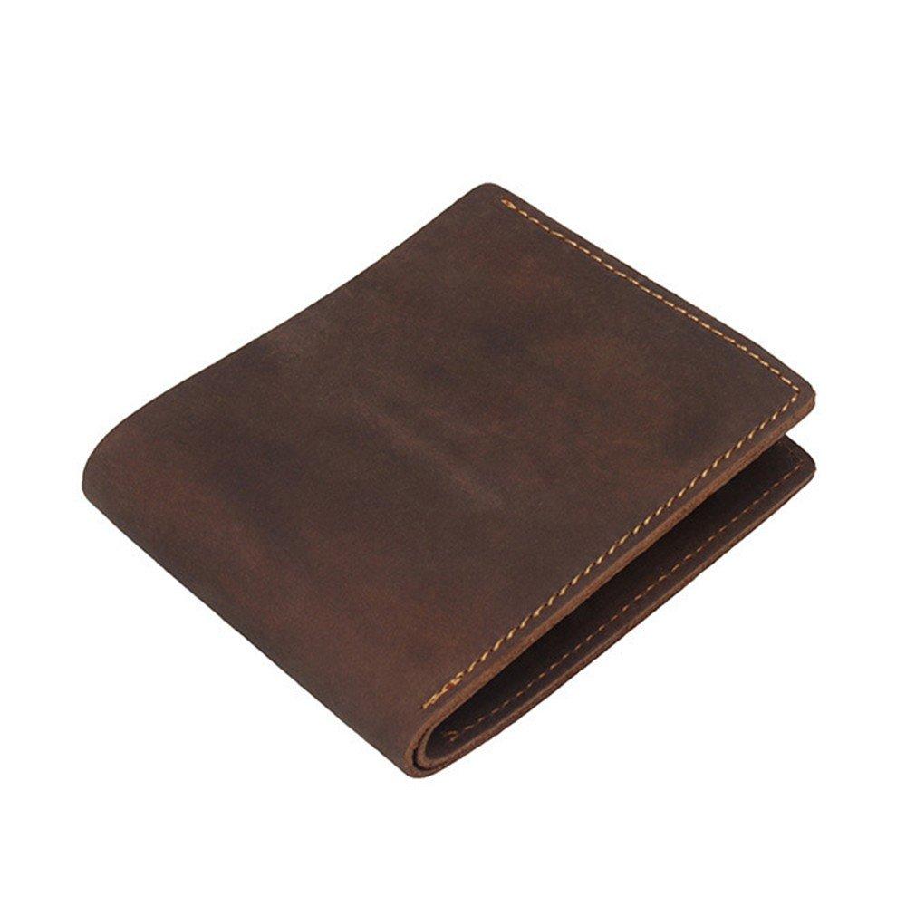 Wallet Men'S Wallet, Cowboy, Leather Bag, Real Pickup, Brown.