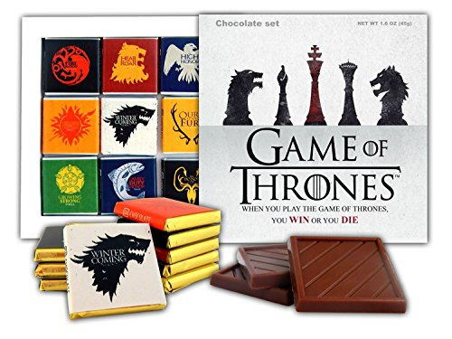 DA CHOCOLATE Souvenir Candy GAME OF THRONES Great Houses of Westeros Chocolate Gift Set Famous TV series design 5x5in 1 box (Chess 0434) (Souvenir Chess)