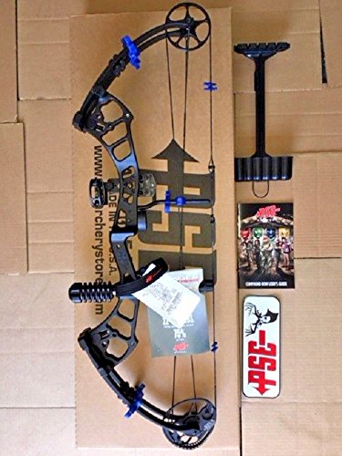 PSE 2018 STINGER EXTREME CUSTOM BLACK/HOT BLUE PACKAGE 40-70LB. READY TO SHOOT ()