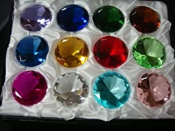 Mother\'s Day Special: (12) Glass Diamond Paperweight 40mm Birthstone
