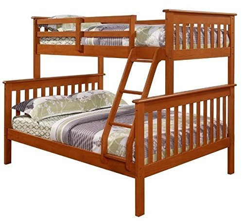 Donco Kids 122-3Cp Mission Bunk Bed, Twin/Full, Dark Cappuccino ()