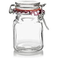 Kilner Square Clip Top Spice Jar, 70ml, Transparent 01651