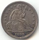 1838 P Seated Liberty Half Dime About Uncirculated
