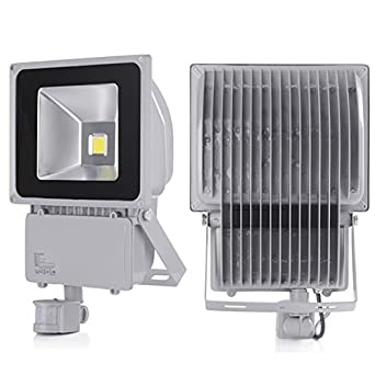 2 pcs 100w energy saving cool white low energy security flood light 2 pcs 100w energy saving cool white low energy security flood light pir sensor movement detector aloadofball Choice Image