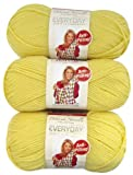 Premier Yarns Solid Deborah Norville Everyday Soft Worsted, Baby Yellow