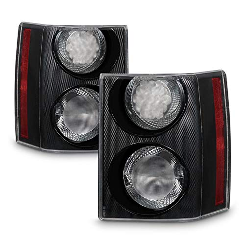 09 Land Rover Range Rover HSE EURO Black/Clear LED Tail Lights Left+Right ()