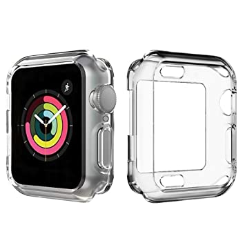 steanum Compatible con Apple Watch Funda 44mm Series 4, TPU Protectora Funda iWatch 4 Protección Anti-Rasguños Funda Suave Ultra Transparente para ...