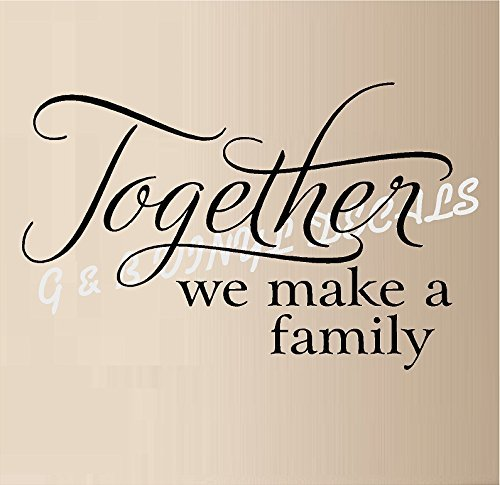 Together Family Vinyl Sticker Letters product image