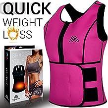 AQUIVA Neoprene Sweat Sauna Trainer Vest for Women Waist Trimmer Belt Weight Loss Body Shaping