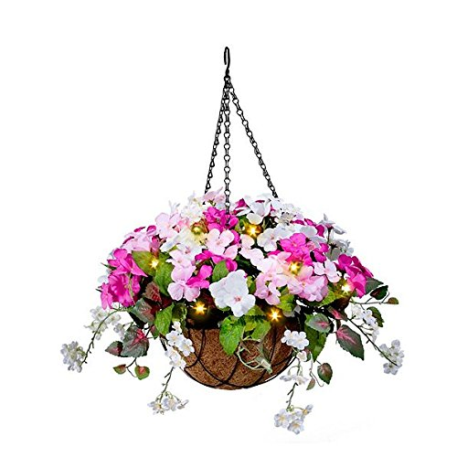 Outdoor Lighted Hanging Baskets - 1
