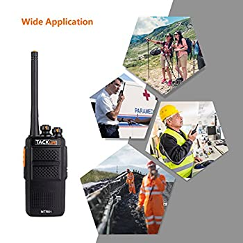 Tacklife Mtr01 Advanced Two-way Radio With Rechargeable 1300mah Li-ion Battery Uhf 400-470mhz Transceiver Earphone Long Working Distance 16 Channels Walkie Talkie | 2 Pcs 7