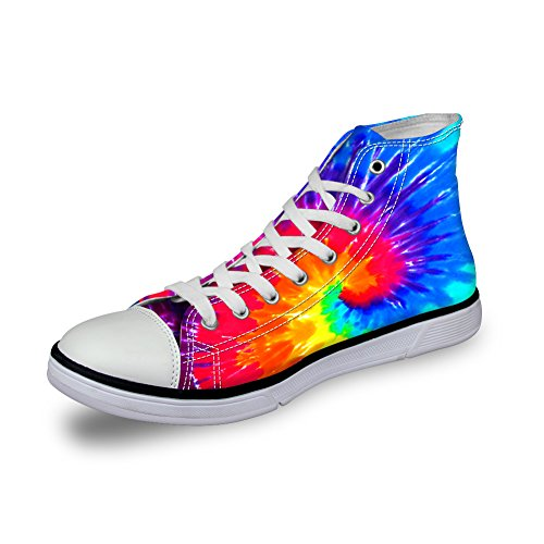 Showudesigns Women Canvas High Flower Walking Shoes Sneaker colorful 4 color Top Spring wq7xATwEX
