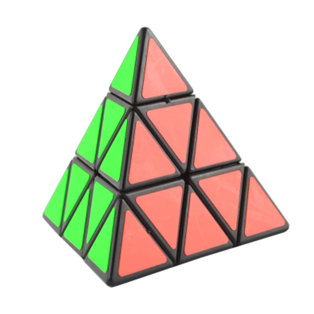 SHENSHOU Rubik's Cube Intelligence Puzzle Smooth Pyramid Rubik,Blackedge