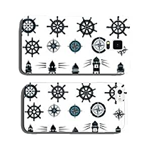 Set of marine or nautical themed vector icons cell phone cover case Samsung S5