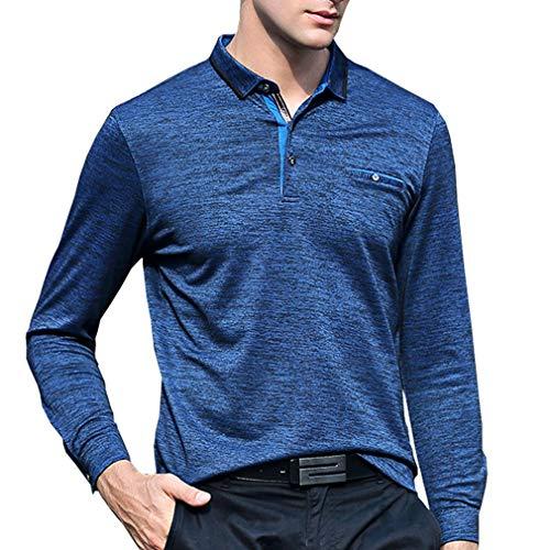 メンズ ポロシャツ 長袖 胸ポケット付き 無地 ゴルフウェア メンズ ゴルフ ストレッチ 通気性 吸汗速乾 春秋冬