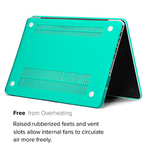 GMYLE Turquoise Blue Soft-Touch Frosted Hard Case Cover for Old MacBook Pro 13 inch with CD-ROM (Model: A1278) [2009-2014 Release]