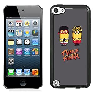 New Pupular And Unique Designed Case For iPod Touch 5 With Minion Fighter Iphone Wallpaper Black Phone Case