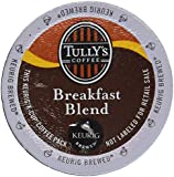 Tully's Coffee Breakfast Blend, K-Cup Portion Pack for Keurig K-Cup Brewers 24-Count  (Pack of 2)