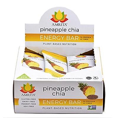 Amrita Paleo Organic Energy Bars - Gluten-Free, Soy-Free, Dairy-Free, Non-GMO Certified - Vegan, Raw, Kosher