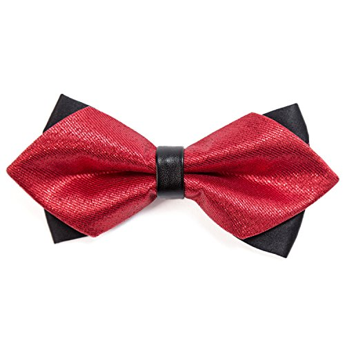 pre and with tie adjustable fastener retro tied Shining Red hook DonDon gent's pointed look length bow qSSC1B