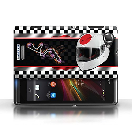 Etui / Coque pour Sony Xperia L/C2105 / Japon/Suzuka conception / Collection de F1 Piste Drapeau