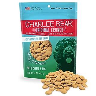 Charlee Bear Original Dog Treats, Cheese and Egg, 16 oz