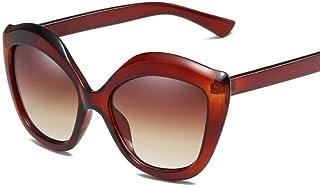 BiuTeFang Gafas de Sol Mujer Hombre Polarizadas de corazón Tipo señora durazno Europeo y Americano Marco de Grandes Gafas de Sol decoración Ojo de Gato Gafas de Sol Moda