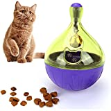 Cat Toys Interactive - Cat Food Toys Interactive | Cat Chew Non-Toxic Exercise Thinking Improve Intelligence Toy Ball For Cats |Purple|( 3.54x2.36 inch )