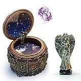 Ecosin Music Box Retro Twelve Constellations Resin ''Castle in the Sky''Music Box Birthday Gift (Pisces C)