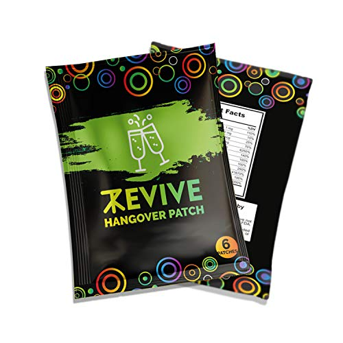 Revive Hangover Patch | The All Natural Way to Defend and Prevent a Hangover and Wake Feeling Revived | 6 Latex Free Patches
