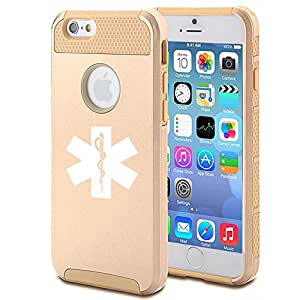Apple iPhone 5 5s Shockproof Impact Hard Case Cover Star Of Life EMT (Gold)