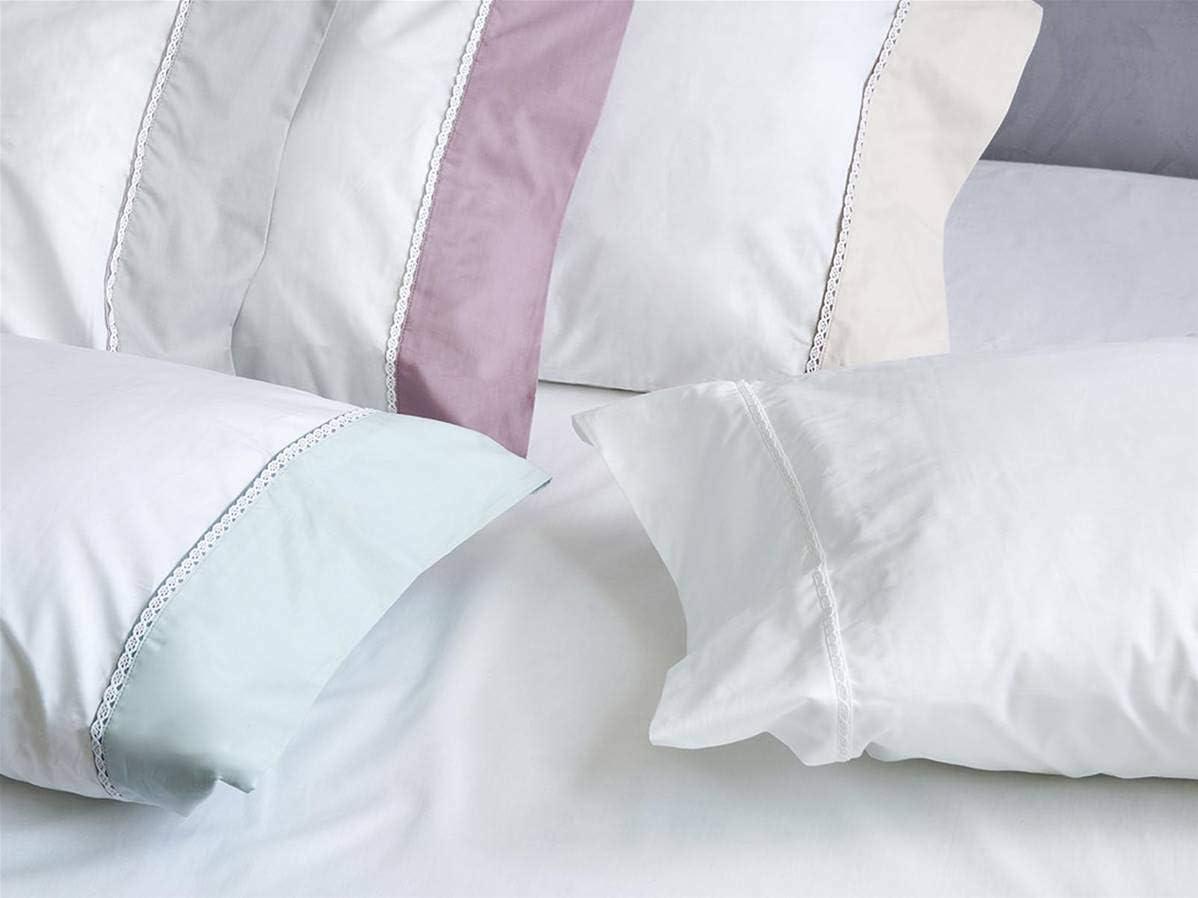 Algodon Blanco - Juego sábanas ATICA 100% algodón percal 210 Hilos ...