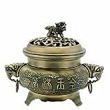 StealStreet 41205 Antique Finish Fu Temple Incense Burner, 4.25
