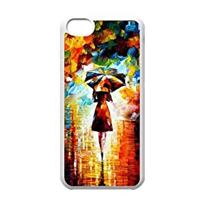 iPhone 5c Cell Phone Case White Umbrella Lady Raining Art Qxyfz