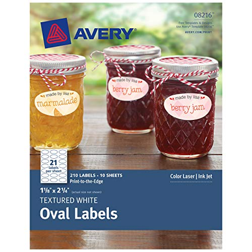 - Avery Oval Labels for Laser & Inkjet Printers, 1-1/8