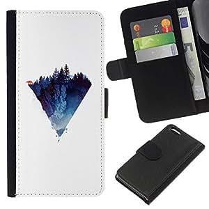 // PHONE CASE GIFT // Moda Estuche Funda de Cuero Billetera Tarjeta de crédito dinero bolsa Cubierta de proteccion Caso Apple Iphone 5C / Polygon Mountain /