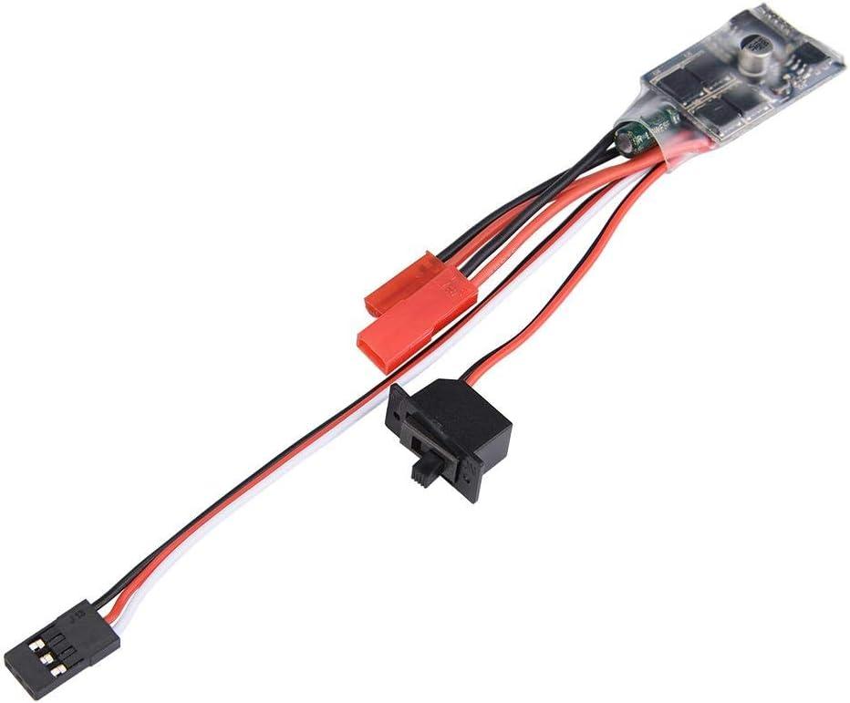 Dilwe Cepillado Bidireccional ESC, PCB Controlador Electrónico de Velocidad para WPL 1608T RC Camión Control Remoto Accesorio de Pieza de Repuesto