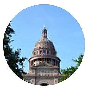 alfombrilla de ratón Capital del estado, Austin, Texas - ronda - 20cm