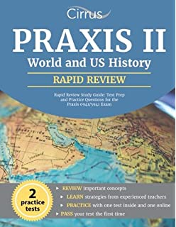 Praxis Ii World And Us History Rapid Review Study Guide Test Prep And Practice Questions