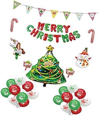 1 Juego Globos de Navidad Decoración de Kits de Decoración Feliz Fiesta para Caja de Regalo Paquete de Festivales: Amazon.es: Juguetes y juegos