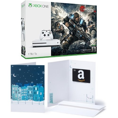Xbox One S 1TB Console – Gears of War 4 Bundle + $30 Amazon Gift Card