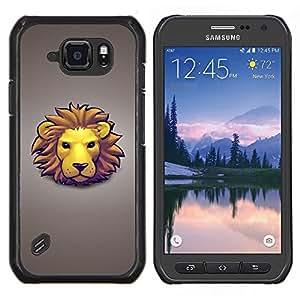 TECHCASE---Cubierta de la caja de protección para la piel dura ** Samsung Galaxy S6 Active G890A ** --La cara del león
