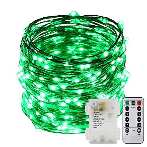 ErChen Battery Operated 40 FT 240 Led Fairy Lights, Remote Control 8 Modes Dimmable Waterproof Copper Wire LED String Lights Timer Indoor Outdoor Garden Patio Christmas - Cluster Ornament Christmas